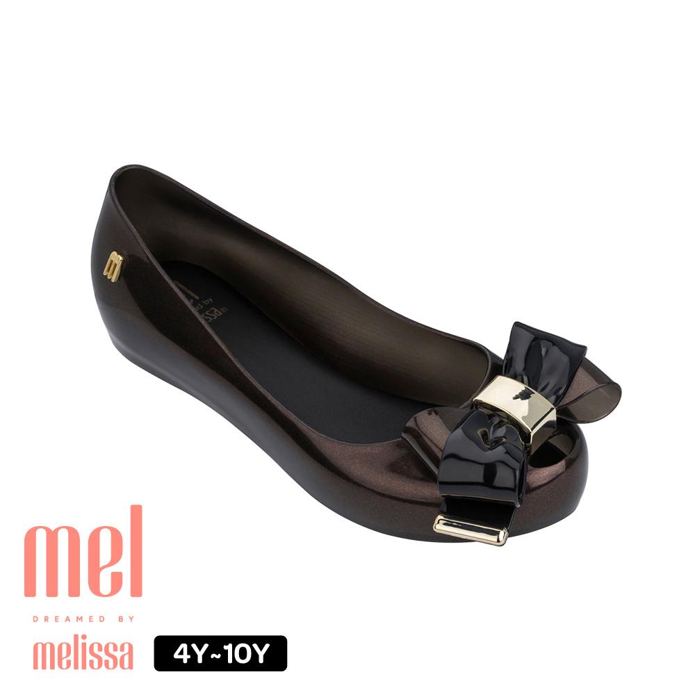 Melissa 金屬蝴蝶結娃娃鞋(兒童款)-黑