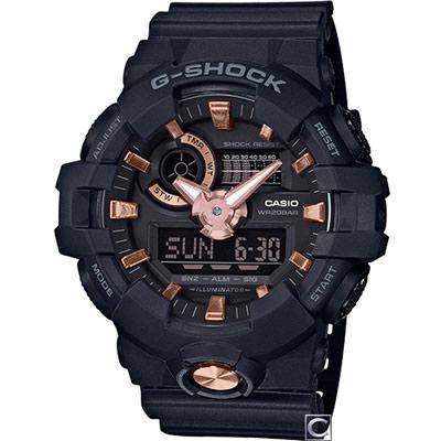 G-SHOCK  絕對強悍雙顯運動錶(GA-710B-1A4)