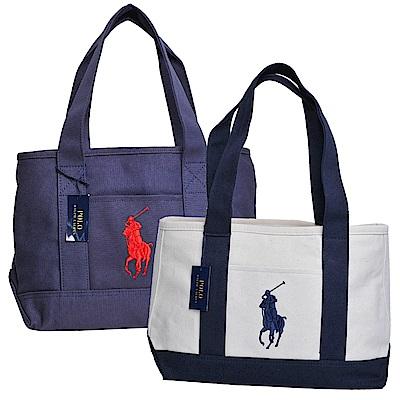 POLO Ralph Lauren 品牌LOGO後背包/購物包