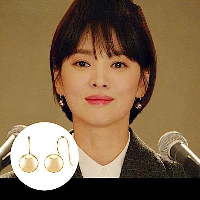 梨花HANA 韓劇男朋友宋慧喬S925金屬圓珠耳環小版0.8CM
