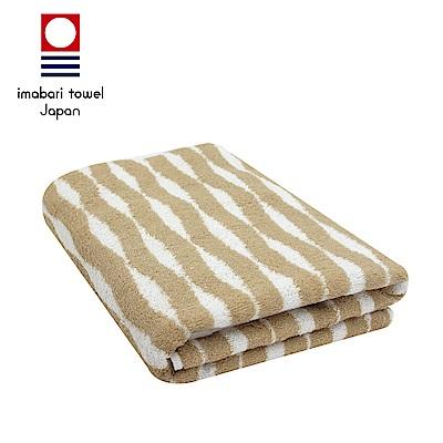 日本今治 純天然有機棉無染色浴巾(海波紋-秋香綠)
