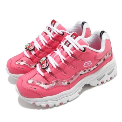 Skechers 休閒鞋 Energy LINE FRIENDS 女鞋 老爹鞋 厚底 增高 兔兔 皮革 穿搭 修飾 粉白 13424PNK
