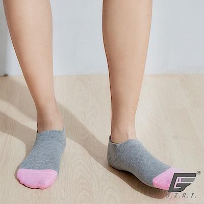 GIAT 台灣製荳荳萊卡船型襪(男女適用-淺灰)