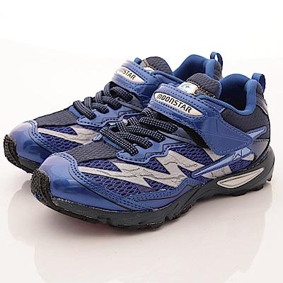 日本月星頂級童鞋 閃電競速運動款 SE895藍(中大童段)