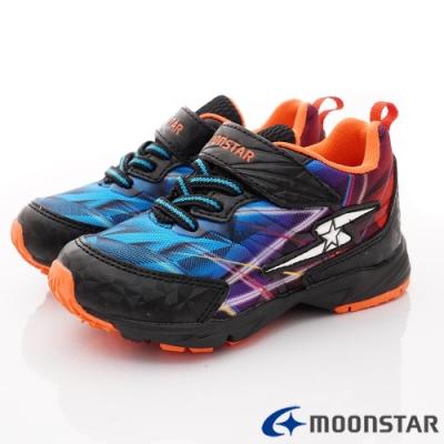 日本月星頂級童鞋 競速衝刺運動鞋款 NI538黑(中大童段)