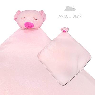 美國 Angel Dear 大頭動物嬰兒毛毯 (粉紅小豬)