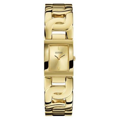 GUESS 曼妙舞動時尚腕錶-金-W0003L2-32x32mm