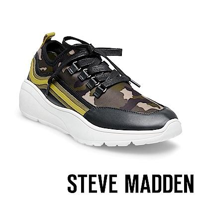 STEVE MADDEN-CAVO潮流款搖滾迷彩老爹鞋-咖啡色