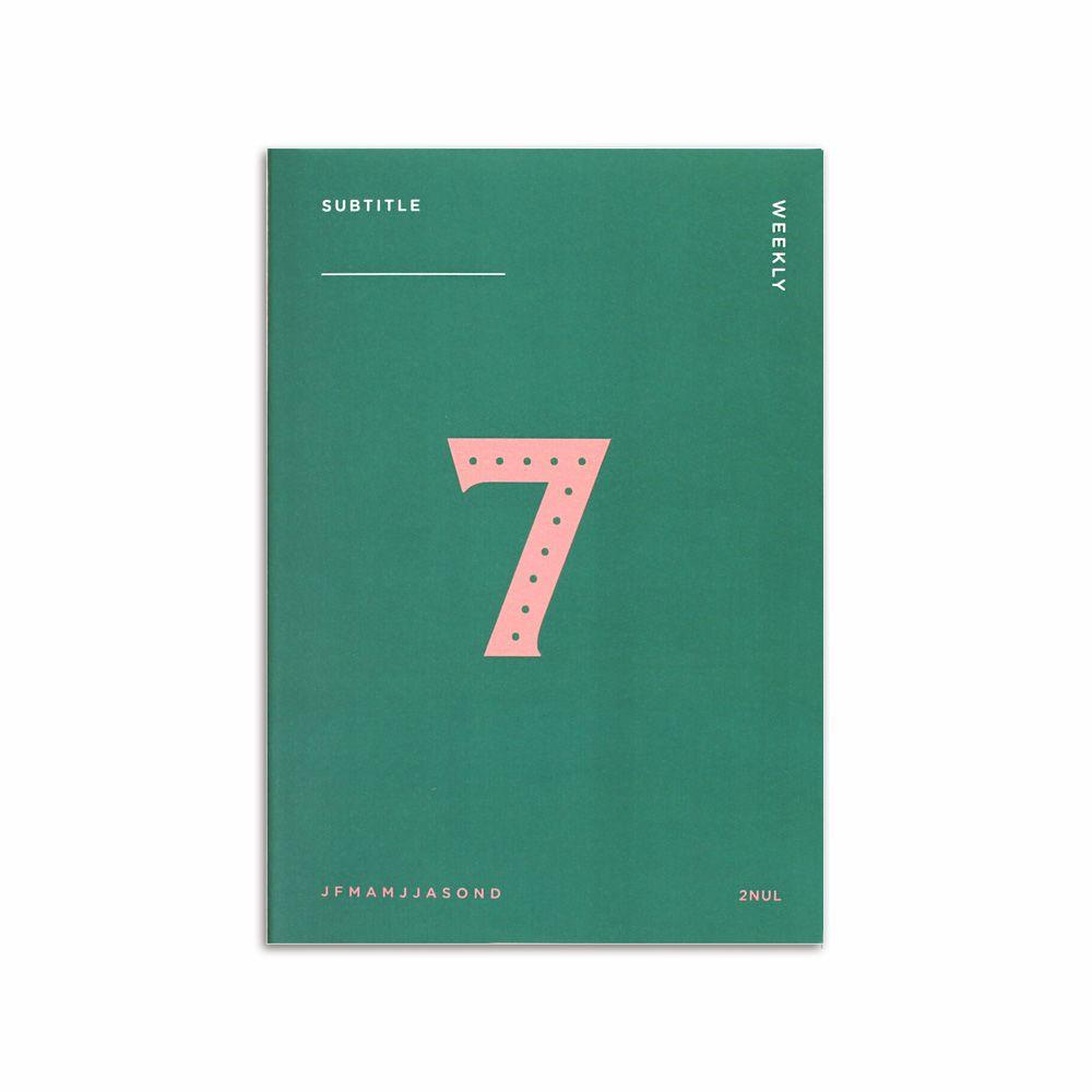 2NUL 個性週計畫本-孔雀綠7