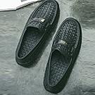 韓國KW美鞋館-編織防滑防水雨用二用男鞋-黑色