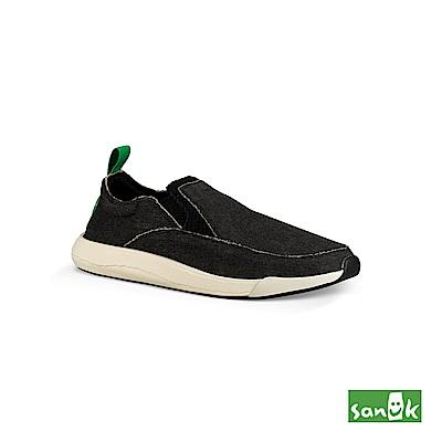 SANUK CHIBA QUEST率性拉環設計休閒鞋-中性款(黑色)