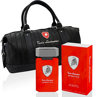 Lamborghini Sportivo紅牛能量男性淡香水125ml-贈同品牌旅行袋