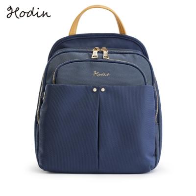 【Hodin】Daily多功能防盜帆布後背包(藍色151040BR)