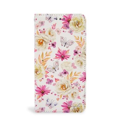 apbs iPhone XS / iPhone X 5.8吋施華水晶鑽皮套-小白蝶