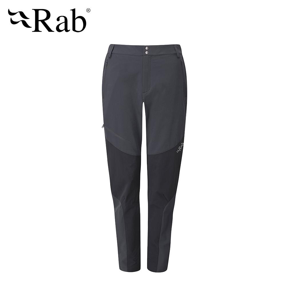【英國 RAB】Torque Mountain Pants 輕量彈性軟殼長褲 女款 鯨魚灰 #QFU41
