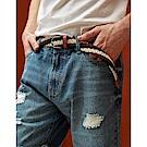 CACO-MIT 彈性編織配條皮帶-男【SAR040】