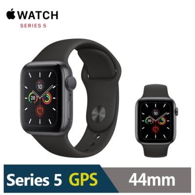 Apple Watch S5 44mm 鋁金屬錶殼配運動型錶帶(GPS)