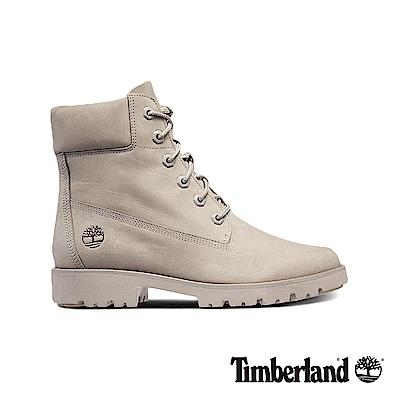 Timberland 女款灰褐色磨砂革經典6吋靴|A1XE9