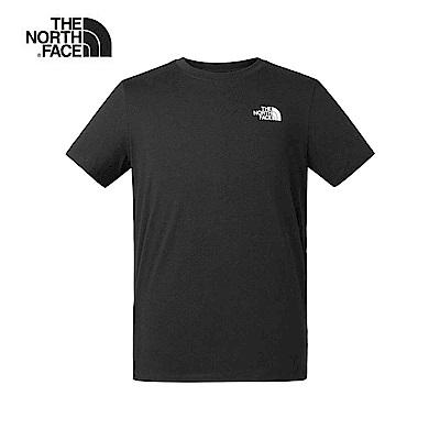 The North Face北面男款黑色吸濕排汗迷彩印花短袖T恤|46IPJK3