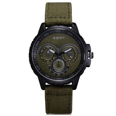 Watch-123 仿三眼儀表設計帥氣軍風手錶 (2色任選)