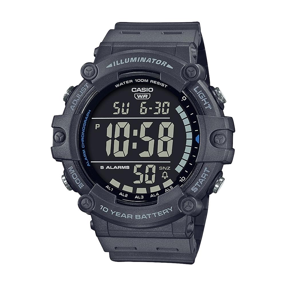 CASIO卡西歐 數位/指針 十年電力 大錶徑 數位顯示系列 AE-1500WH-8B_51.2mm