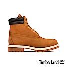 Timberland 男款麥褐色磨砂革經典雙領6吋靴 73542
