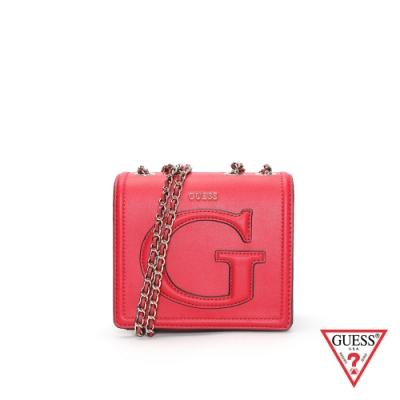 GUESS-女包-大寫LOGO字母小方包-紅