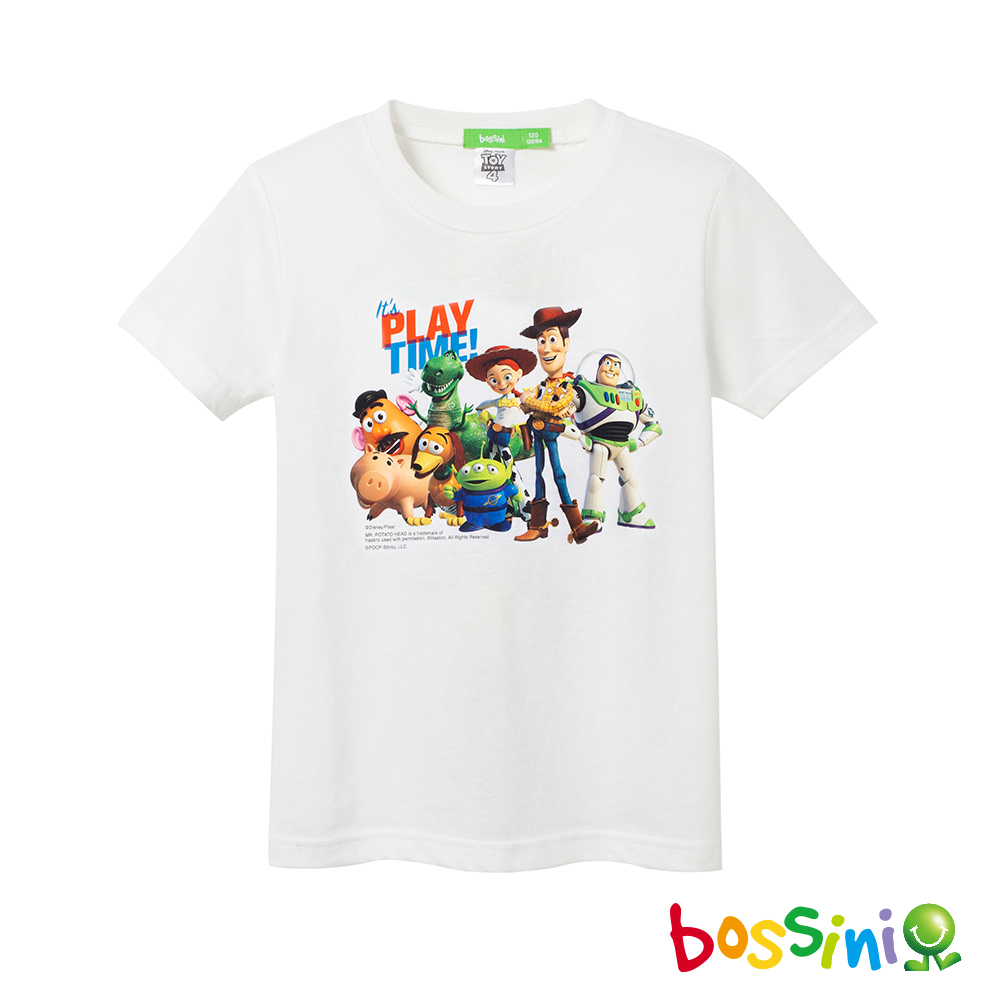 bossini男童-玩具總動員印花T恤01灰白