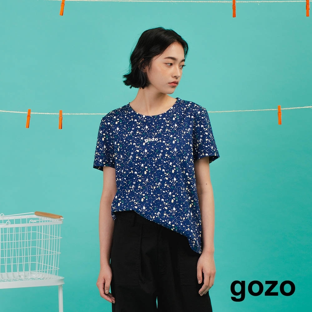 gozo-滿版小碎石印花上衣(三色)