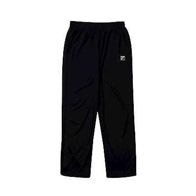 FILA KIDS 童抗UV吸濕排汗針織長褲-黑 1PNT-4303-BK