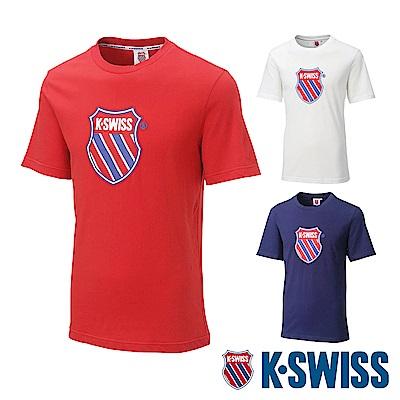 [時時樂限定]K-SWISS Heritage印花短袖T恤-男女款共三色