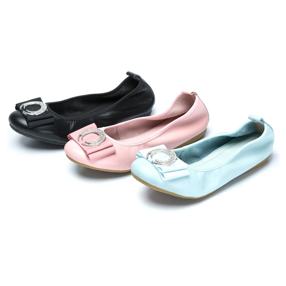 [時時樂限定]CUMAR舒適真皮-圓形水鑽裝飾真皮莫卡辛鞋-三色