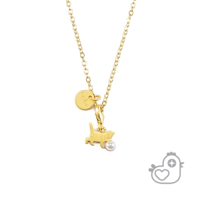 【彩糖鑽工坊】彩糖貝貝  貓咪 珍珠項鍊  親子 閨蜜 彩糖貝貝繽紛寶石系列