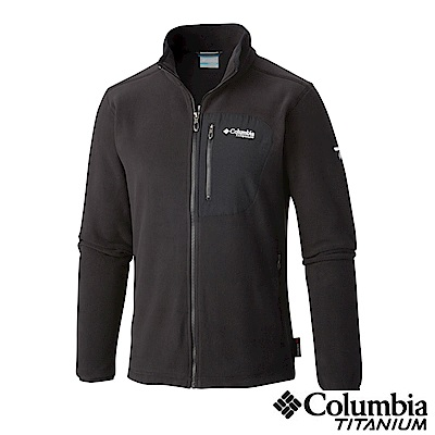 Columbia 哥倫比亞 男款-鈦 Polar刷毛外套-黑UAO30950BK