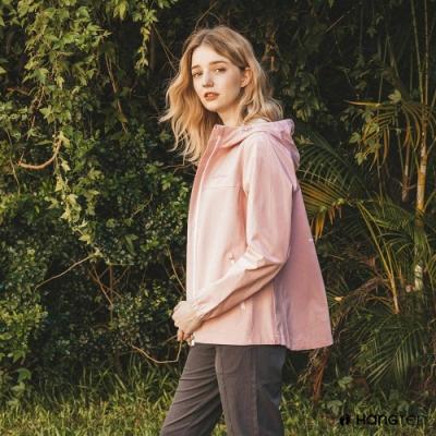 Hang Ten-女裝-恆溫多功能-防輕潑水舒適防風外套-粉色