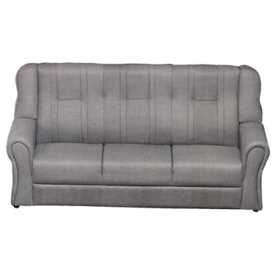 綠活居 雷凱時尚灰亞麻耐磨皮革三人座沙發椅-187x84x88cm免組