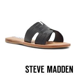 STEVE MADDEN-HARLOW 簡約H型一字拖鞋-黑色