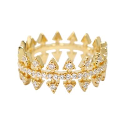 apm MONACO法國精品珠寶 閃耀鑲鋯La Belle金色戒指