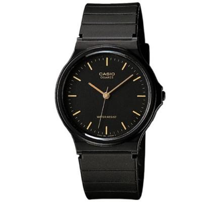CASIO 超輕薄感數字錶(MQ-24-1E)-黑面金字