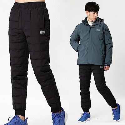 【遊遍天下】中性款JIS90%羽絨防風保暖羽絨褲P082黑色