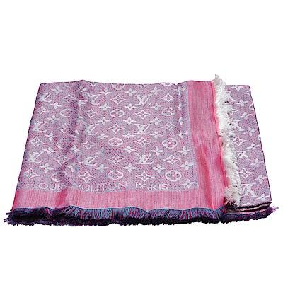 LV M70663經典Infra系列Monogram織紋絲羊毛披肩/圍巾(粉色)