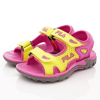 FILA頂級童鞋 運動風涼鞋款 FO30T-292黃桃(中小童段)