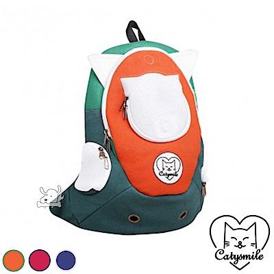 Catysmile 學院風貓耳 寵物雙肩後背包 共3色