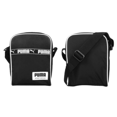 PUMA 側背小包-肩背包 側背包 單肩包 隨身包 休閒 斜背包 07743201 黑白