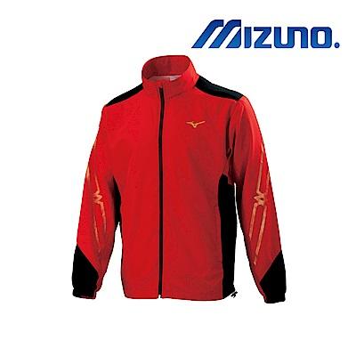 MIZUNO 美津濃 男平織運動外套 紅x黑 32TC908562