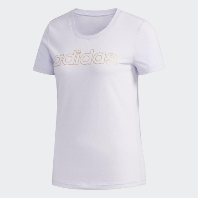 adidas 短袖上衣 運動 休閒 健身 訓練 女款 白 FL9290 W E BRANDED T