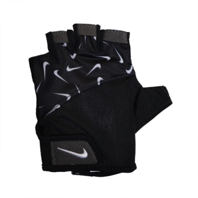 Nike 手套 Gym Elemental Gloves 女款 健身 重訓 魔鬼氈 黏扣帶 鬆緊可調 黑 白 N0002556091