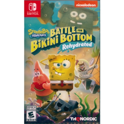 海綿寶寶:為比奇堡而戰 -重新灌水- Spongebob Squarepants: Battle for Bikini Bottom - Rehydrated - NS Switch 中英日文美版