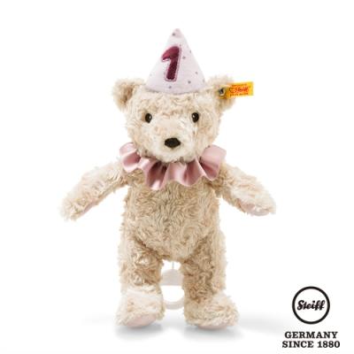 STEIFF德國金耳釦泰迪熊  生日熊女孩 First Birthday Girl Teddy Bear(嬰幼兒音樂鈴)
