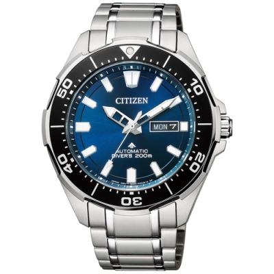 CITIZEN星辰 深海艦隊限量款鈦金屬機械潛水男錶(NY0070-83L)-43.5mm